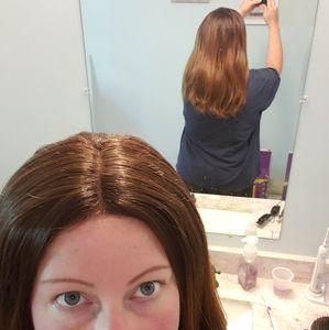 Human hair Blend wig 20 inches